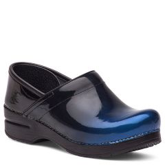 Dansko Professional Patent Leather Blue Ombre Clogs