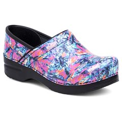 Dansko Professional Patent Leather Color Burst Clogs