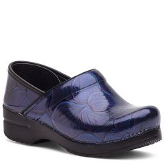 Dansko Professional Patent Leather Hibiscus Clogs