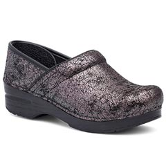 Dansko Professional Leather Pewter Clogs