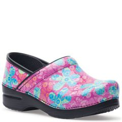 Dansko Professional Patent Leather Pop Floral Clogs