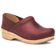 Dansko Professional Oiled Leather Red Clogs