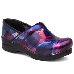 Dansko Professional Patent Leather Watercolor Clogs
