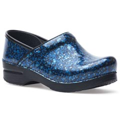 Dansko Professional Patent Leather Azul Clogs