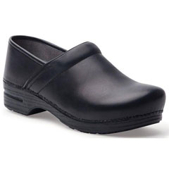 Dansko Pro Xp Burnished Nubuck Black Clogs