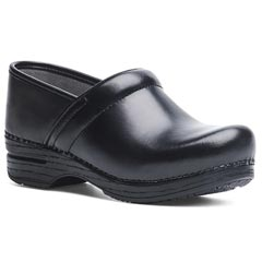 Dansko Pro Xp Leather Wide Black Clogs