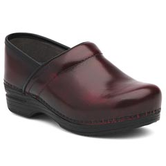 Dansko Pro Xp Leather Burgundy Clogs