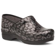 Dansko Pro Xp Leather Leopard Clogs