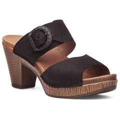 Dansko Ramona Milled Nubuck Black Sandals