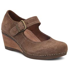 Dansko Sandra Suede Taupe Shoes