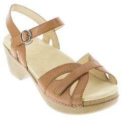 Dansko Season Leather Camel Sandals