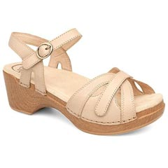 Dansko Season Full Grain Leather Sand Sandals