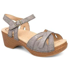 Dansko Season Leather Stone Sandals