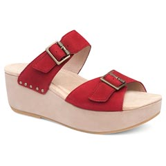 Dansko Sela Nubuck Red Sandals
