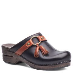 Dansko Shandi Full Grain Leather Black Clogs