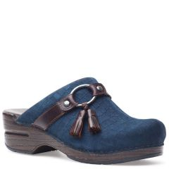 Dansko Shandi Leather Blue Clogs
