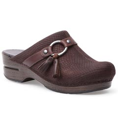 Dansko Shandi Leather Brown Clogs