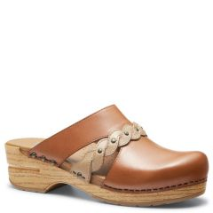 Dansko Sherise Full Grain Leather Caramel Clogs