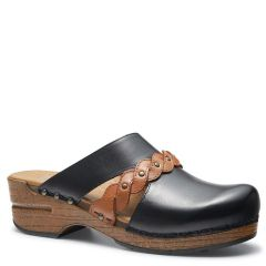 Dansko Sherise Full Grain Leather Black Clogs