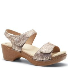 Dansko Sonnet Leather Gold Sandals