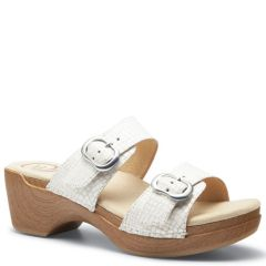 Dansko Sophie Leather White Sandals