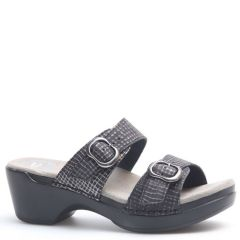Dansko Sophie Leather Black Sandals