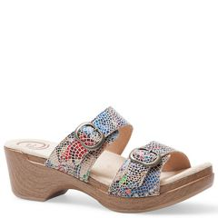 Dansko Sophie Leather Sand Multi Sandals