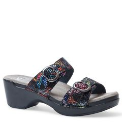 Dansko Sophie Leather Black Multi Sandals