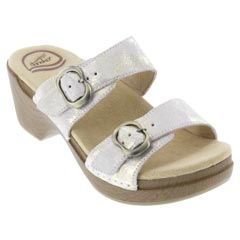Dansko Sophie Leather Ivory Sandals