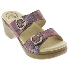 Dansko Sophie Leather Rose Sandals
