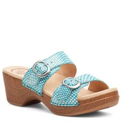 Dansko Sophie Leather Turquoise Sandals