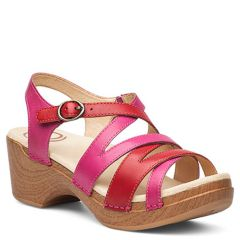 Dansko Stevie Full Grain Leather Fuschia Sandals