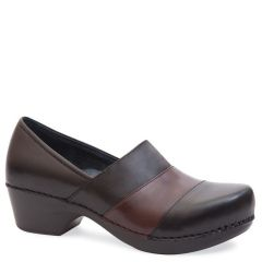 TENLEY LEATHER BLACK BROWN