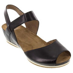 Dansko Vera Burnished Leather Black Sandals