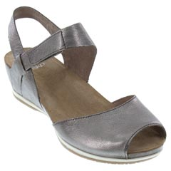 Dansko Vera Nappa Leather Pewter Sandals