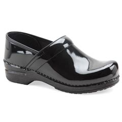 Dansko Pro Xp Patent Leather Wide Black Clogs