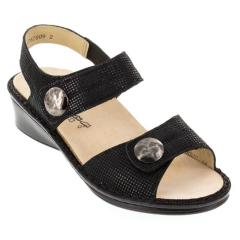 Finn Comfort Alanya Points Leather Black Sandals