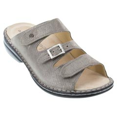 Finn Comfort Anacapa Leather Soft Footbed Fango Sandals