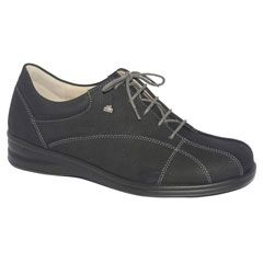Finn Comfort Ariano Leather Black Shoes