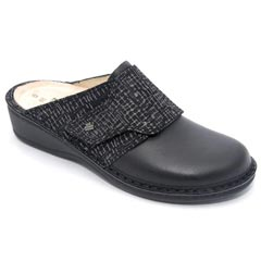 Finn Comfort Aussee Leather Soft Footbed Black Nero Clogs