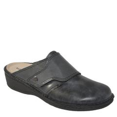Finn Comfort Aussee Leather Soft Footbed Negro