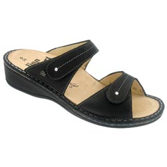Finn Comfort Catalina Leather Soft Footbed Black