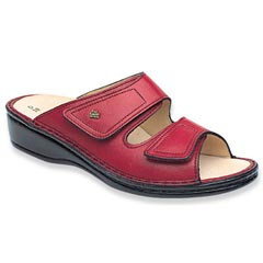 Finn Comfort Jamaica Leather Soft Footbed Sangria