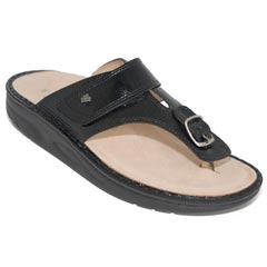Finn Comfort Calmasino Patent Leather Sfb Black Sandals