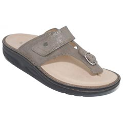 Finn Comfort Calmasino Leather Soft Footbed Fango Sandals