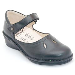 Finn Comfort Canberra Leather Black Shoes