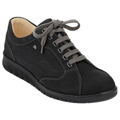 Finn Comfort Chennai Leather Black Shoes