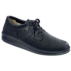 Finn Comfort Baden Nubuck Black Shoes