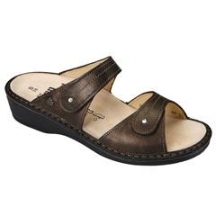 Finn Comfort Catalina Leather Soft Footbed Cigar