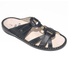 Finn Comfort Cebu Leather Soft Footbed Black